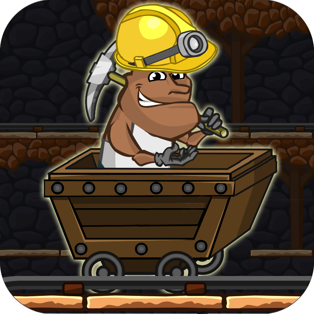 Gold Miner Jack Rush: Ride the Rail to Escape the Pitfall Pro